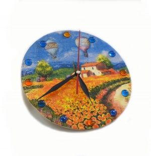 Часы круглые (дерево) (в ассортименте)