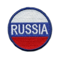 Нашивка круглая «Россия»