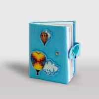 Блокнот голубой (вышивка аппликация)