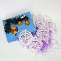 Набор елочных игрушек (плетение)