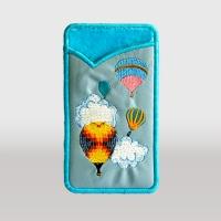 Чехол для телефона (вышивка, кожзам)