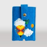 Чехол для телефона с кнопкой (вышивка)
